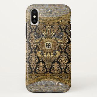 Coque iPhone X Monogramme du baroque de Le Shantesa Pretty