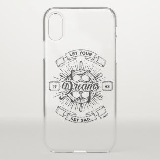 Coque iPhone X Monogramme. Nautique. Citation de la vie