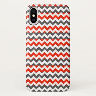 Coque iPhone X Motif aztèque de rayure de zigzag de Chevron