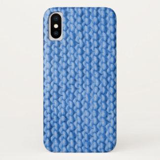 Coque iPhone X Motif bleu de Knit