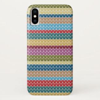 Coque iPhone X Motif coloré de regard de Knit