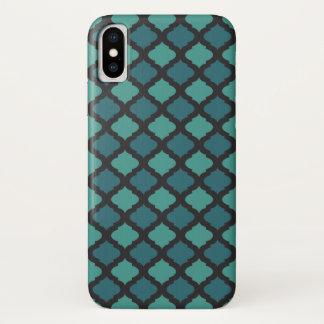 Coque iPhone X Motif de mosaïque dans le style arabe