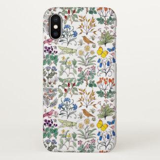Coque iPhone X Motif du jardin de l'apothicaire de Voysey