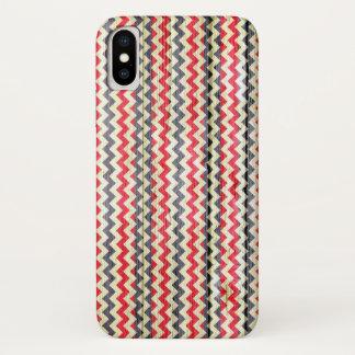 Coque iPhone X Motif moderne de Chevron en bois