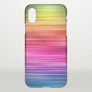 Coque iPhone X Motif rayé au néon