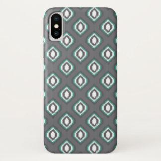 Coque iPhone X Motif tribal de rétro ikat géométrique