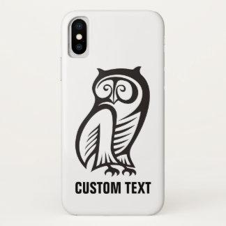 Coque iPhone X Noir de symbole de hibou
