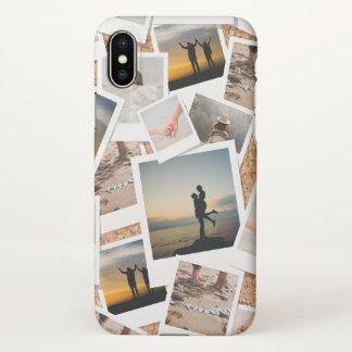 Coque iPhone X Panneau de photo de liège de Faux des mémoires