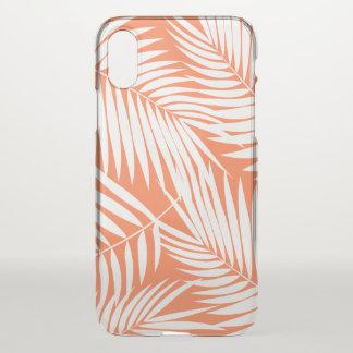 Coque iPhone X Papaye tropicale de feuille hawaïenne de paumes de