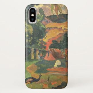 Coque iPhone X Paysage avec des paons par Paul Gauguin