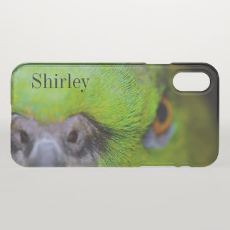 Coque iPhone X Perroquet Jaune-Naped d'Amazone par Shirley Taylor