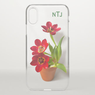 Coque iPhone X Personnalisez :  Photographie florale de tulipes