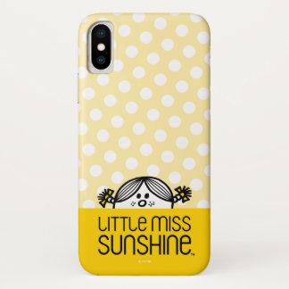 Coque iPhone X Petite Mlle Sunshine Peeking Over Name