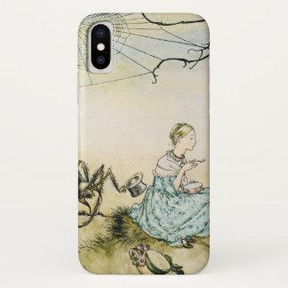 Coque iPhone X Petite Mlle vintage Muffet par Arthur Rackham