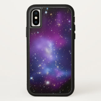 Coque iPhone X Photo pourpre de l'espace de galaxies