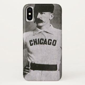 Coque iPhone X Photo vintage, joueur de baseball de Chicago de