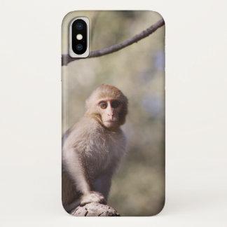 Coque iPhone X Photographie mignonne de singe de bébé