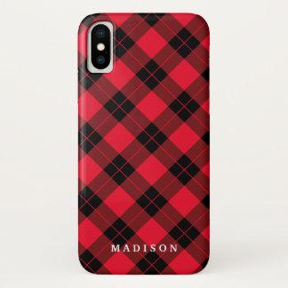 Coque iPhone X Plaid élégant |