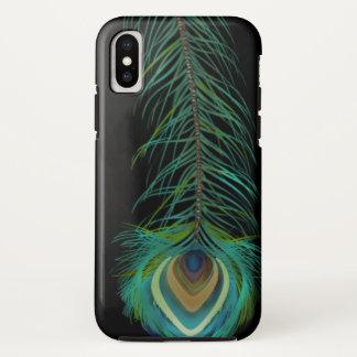 Coque iPhone X Plume de paon vous choisissez la couleur d'arrière