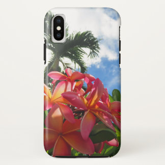 Coque iPhone X Plumeria hawaïen