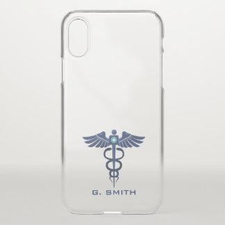 Coque iPhone X Pour des médecins et des infirmières. Caducée