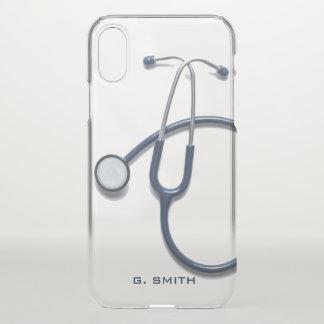 Coque iPhone X Pour des médecins et des infirmières. Stéthoscope