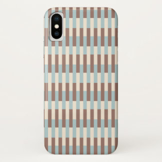 Coque iPhone X Rayures bleues bronzages de Brown