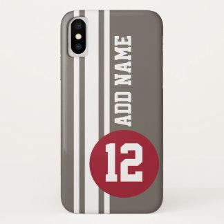 Coque iPhone X Rayures d'emballage automatique avec le nombre et