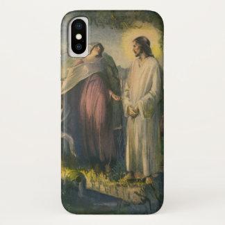 Coque iPhone X Religion vintage, Jésus-Christ levé par la tombe