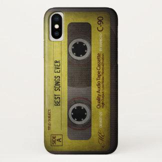 Coque iPhone X Rétro cassette audio compacte