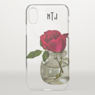 Coque iPhone X Rose rouge dans la photographie florale de