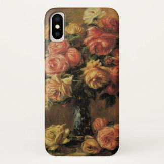 Coque iPhone X Roses dans un vase par Pierre Renoir, beaux-arts
