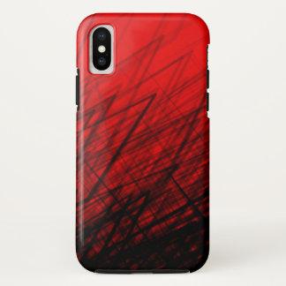 Coque iPhone X Rouge empilé de contre-taille - iPhone/coque ipad