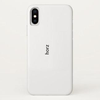 Coque iPhone X secteur de conception de horz - republiez à X