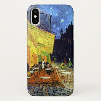 Coque iPhone X Terrasse de café la nuit par Van Gogh