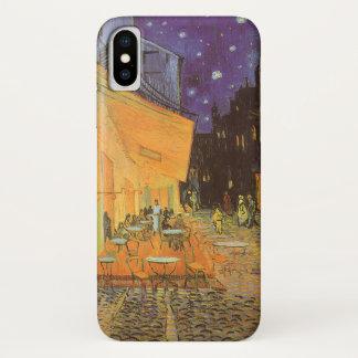 Coque iPhone X Terrasse de café la nuit par Vincent van Gogh