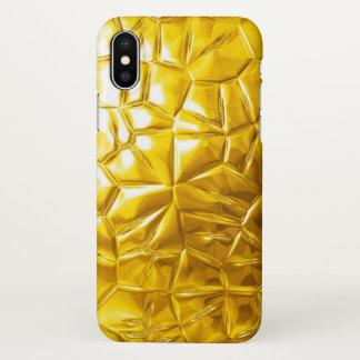 Coque iPhone X textures jaunes d'or
