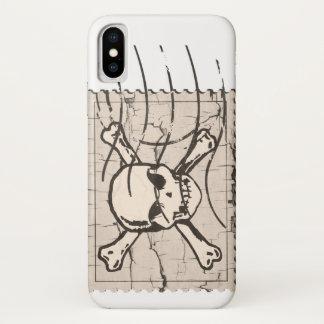 Coque iPhone X Timbre de crâne