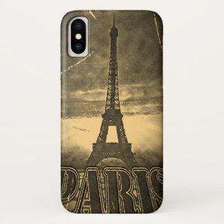 Coque iPhone X Tour Eiffel vintage Paris