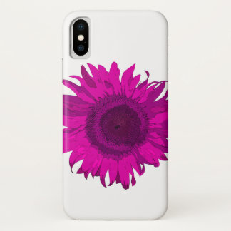 Coque iPhone X Tournesol d'art de bruit de roses indien
