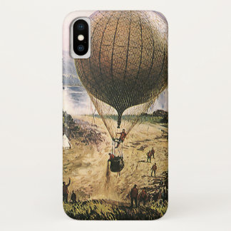 Coque iPhone X Transport vintage, dirigeables chauds de ballon à