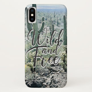 Coque iPhone X Typographie vintage libre sauvage de désert de