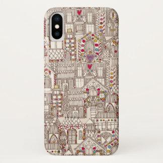 Coque iPhone X ville de pain d'épice