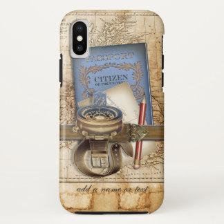 Coque iPhone X Voyageur drôle de Steampunk