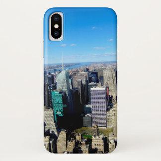 Coque iPhone X Vue de ville de NYC d'Empire State Building