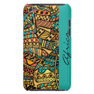 Coque iPod Case-Mate Typographie africaine de conception d'impression