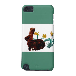 Coque iPod Touch 5G Art de jonquille de lapin de ressort