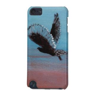 Coque iPod Touch 5G Art d'oiseau au hibou de lever de soleil