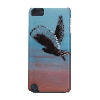 Coque iPod Touch 5G Art d'oiseau de hibou de lever de soleil