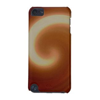 Coque iPod Touch 5G Art en spirale léger foncé de Brown